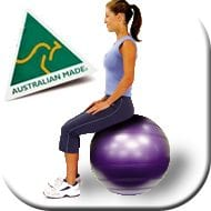 Swiss ball for core strength, stability and balance exercises