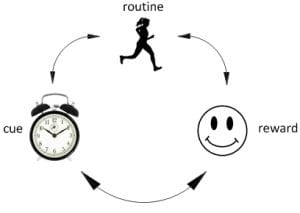 Creating Habits by Cue, routine and reward