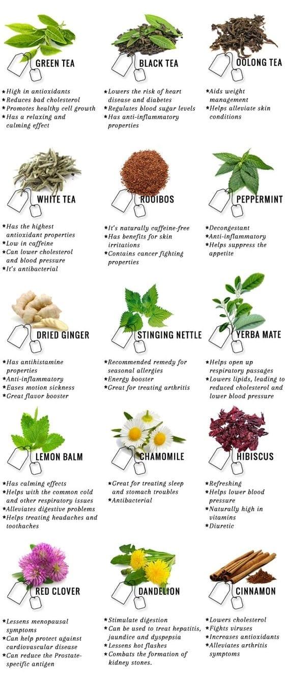 coffee alternative - herbal teas